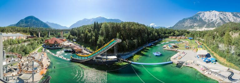 panorama van het park