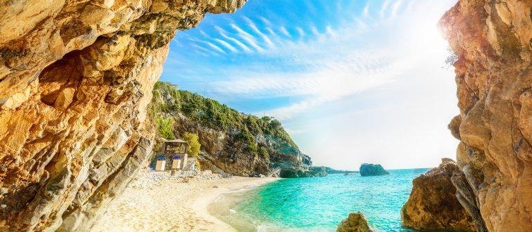 Strand van Corfu