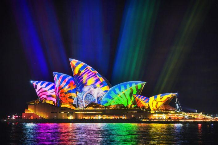 Opera House tijdens Vivid Sydney