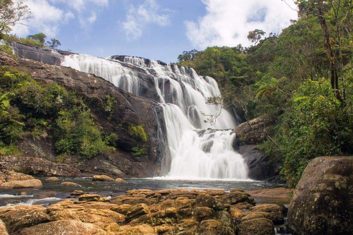 Baker's Falls in Horton Plains National Park