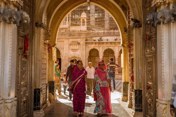 Toegang tot de rattentempel in india