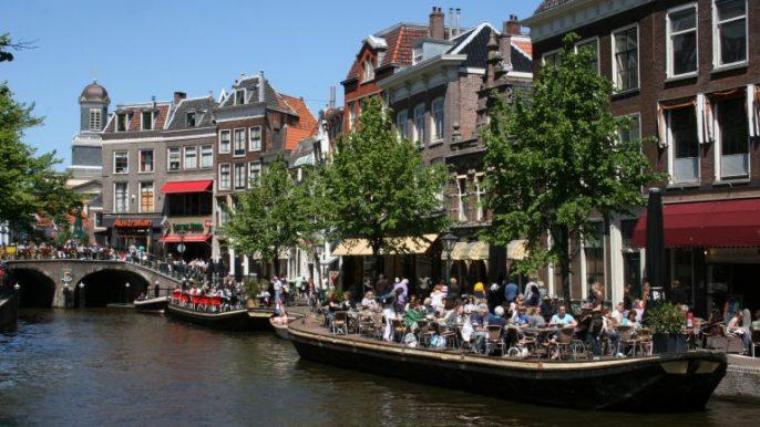 Terrasjes in Leiden