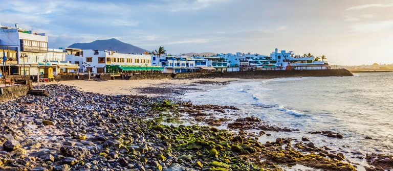 Strand op Lanzarote