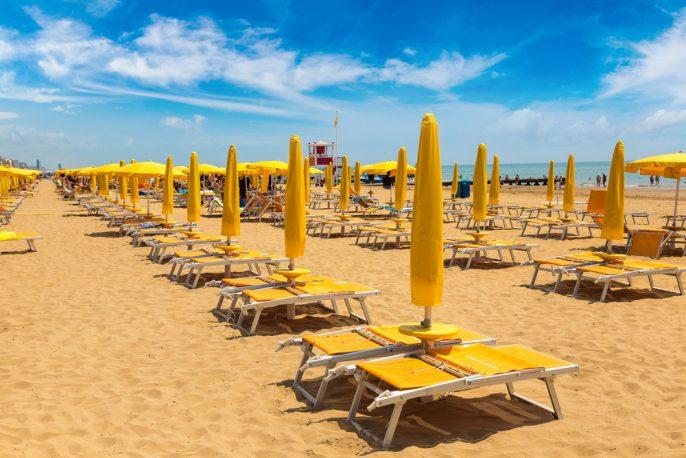 Het strand van Lido di Jesolo