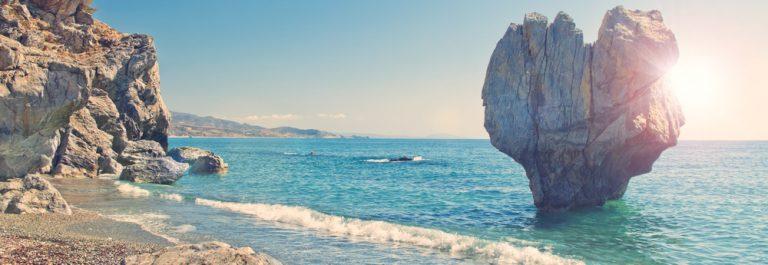 Het strand van Preveli op Kreta