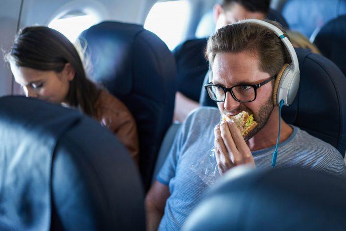 eten in vliegtuig