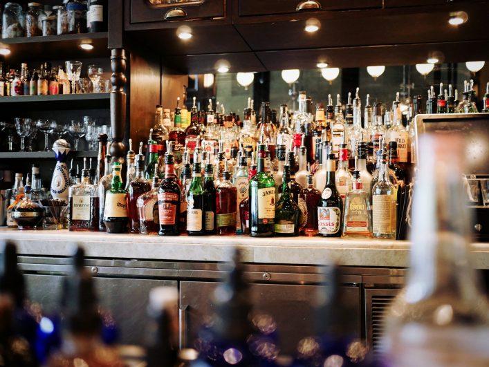 Bar met drank
