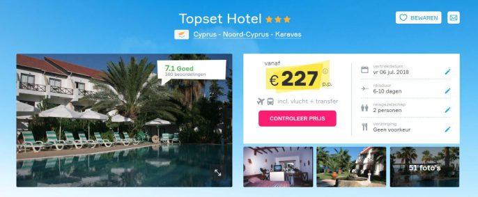 Screenshot Vakantiediscounter