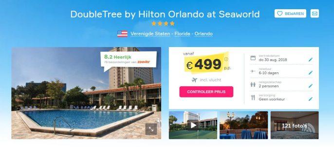 Screenshot Vakantiediscounter