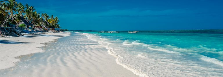 Parelwitte stranden op Zanzibar