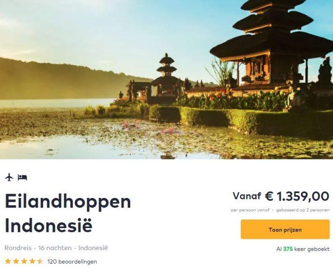 Screenshot van de eilandhoppen indonesie deal