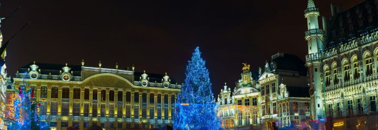 De kerstmarkt van Brussel