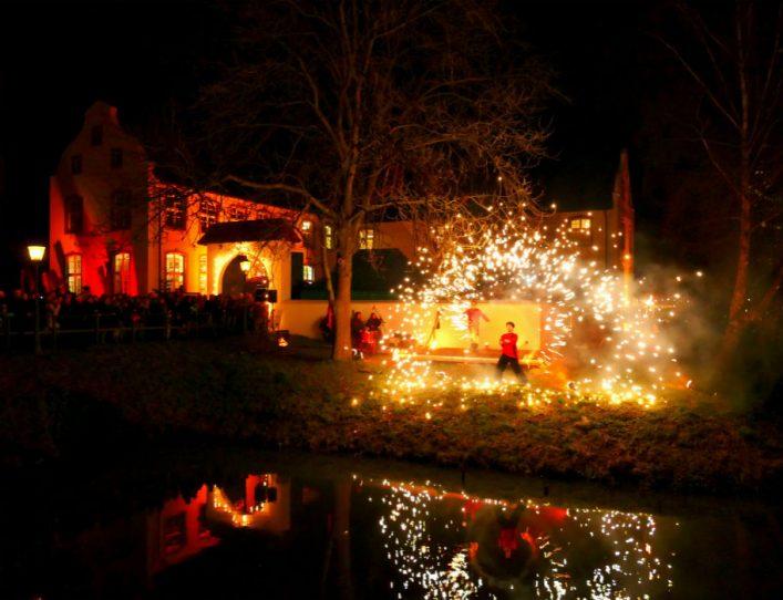 vuurshow kerstmarkt Dorenburg