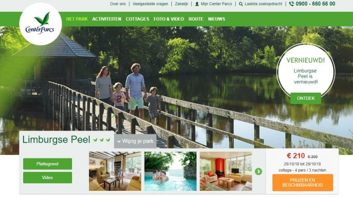 Screenshot Center Parcs