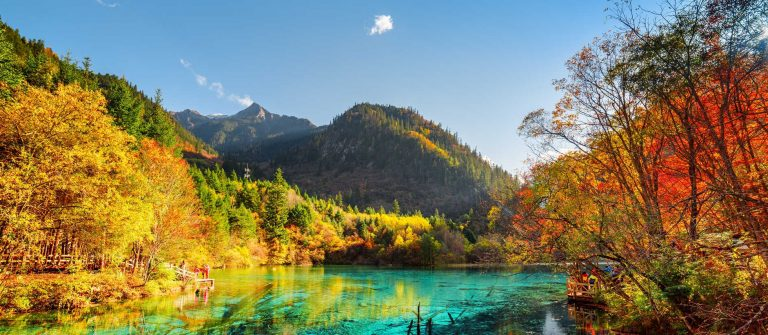 Jiuzhaigou Nature Reserve in China