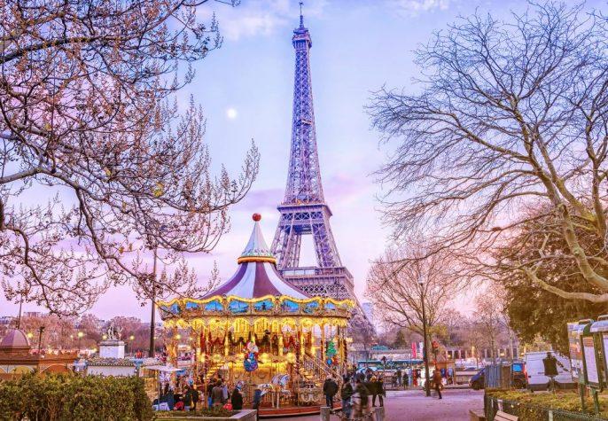 Winter in Parijs