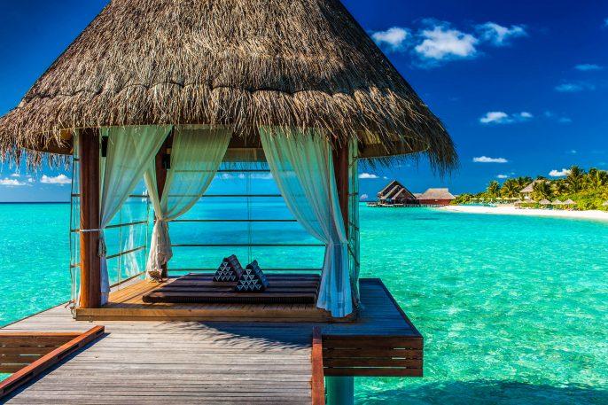 Romantische spa op het water