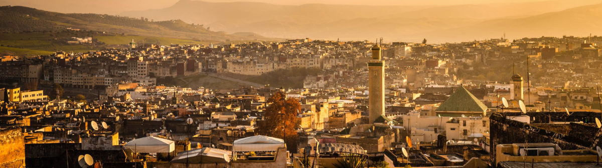 Panoramic view of Fez