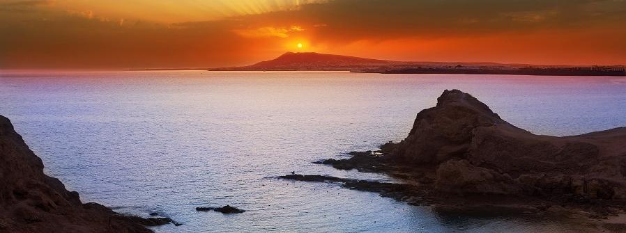 obraz_lanzarote_sunset