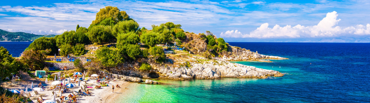 Beautiful view of the beach in an old village of Corfu Island shutterstock_327295634-2