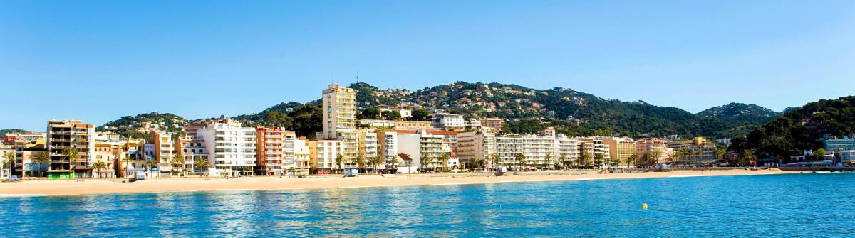 Spain.  Resort Lloret de Mar.  Panorama.