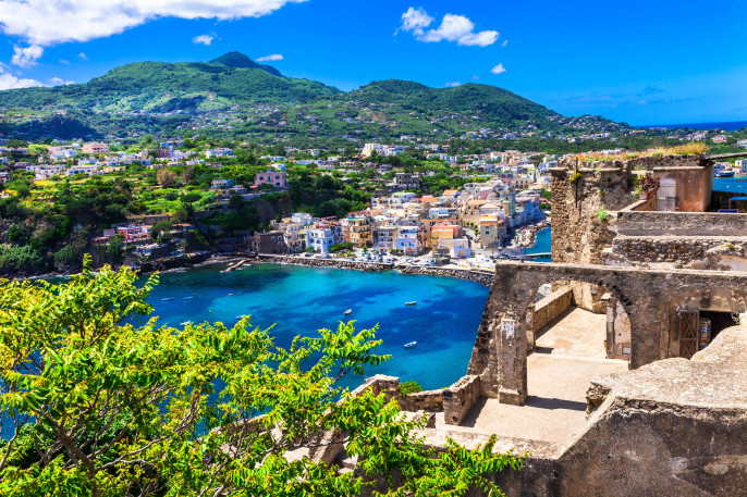 Ischia -view from Arafgonese castle. Italy
