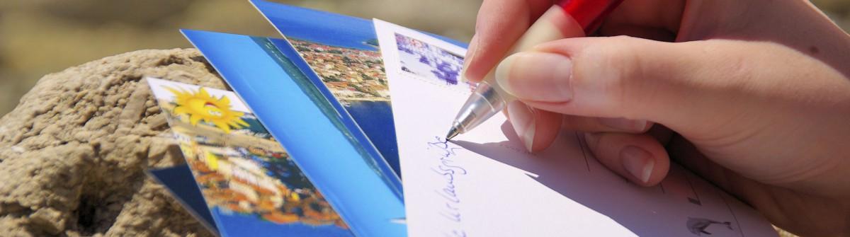 Ansichtskarte schreiben – writing a picture postcard 05