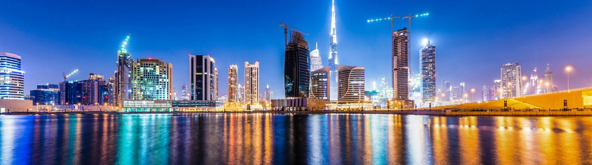 Dubai BusinessBay at night