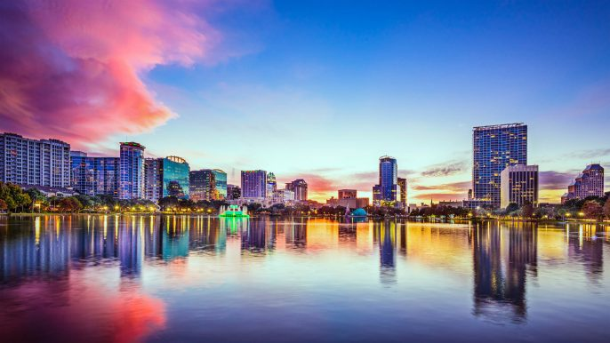 Orlando Florida Skyline Sunset iStock_000058904742_Large-2