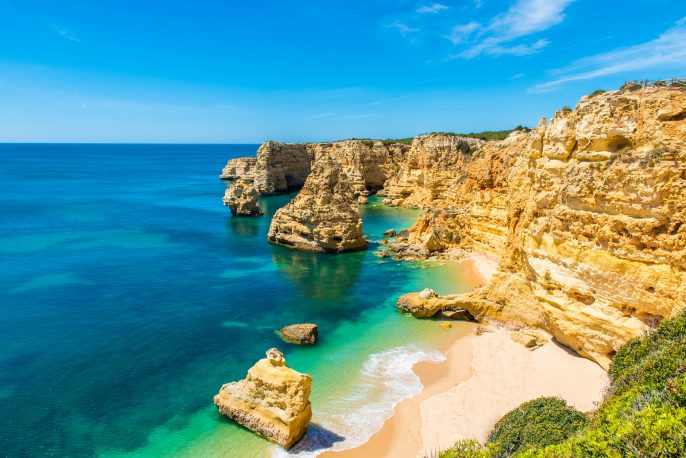 Praia da Marinha – Beautiful Beach Marinha in Algarve, Portugal