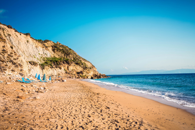 Koroni Beach On Kefalonia Island