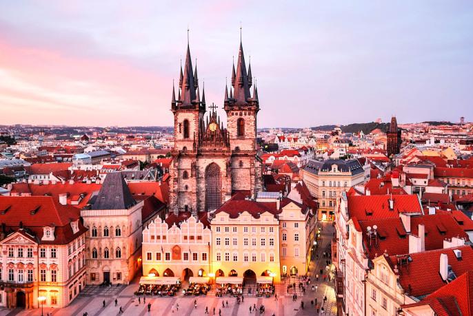 Prague. Tyn Church of Our Lady