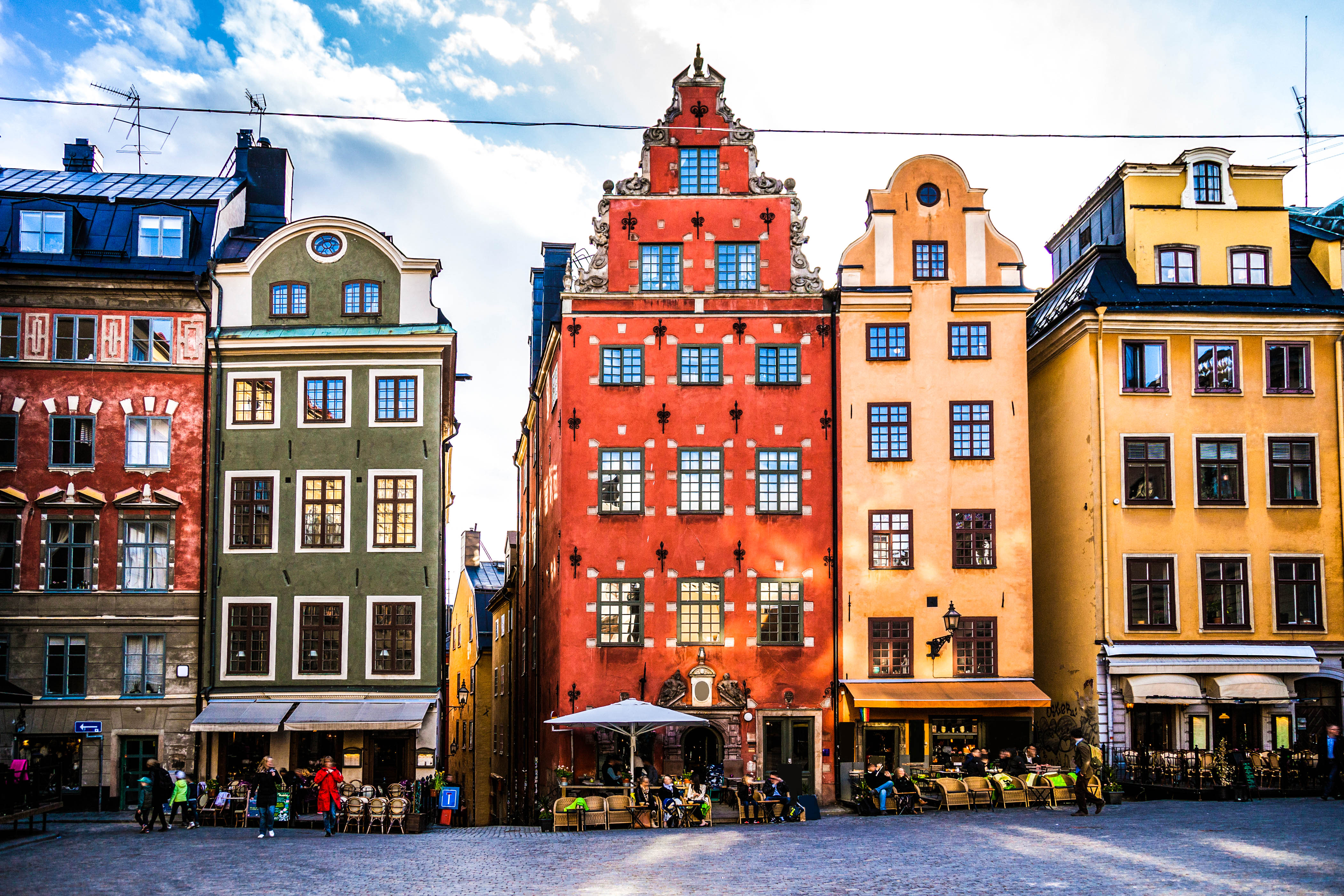 Stockholm, Sweden, Old town and town square.