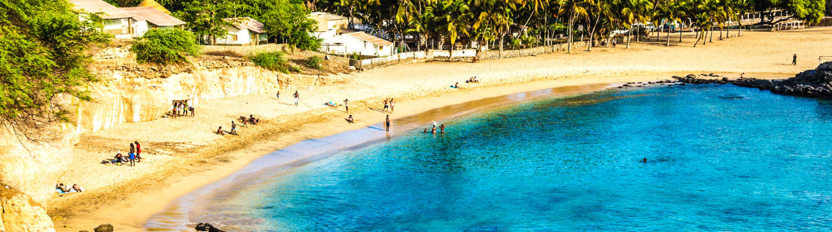 Tarrafal beach in Santiago island in Cape Verde – Cabo Verde