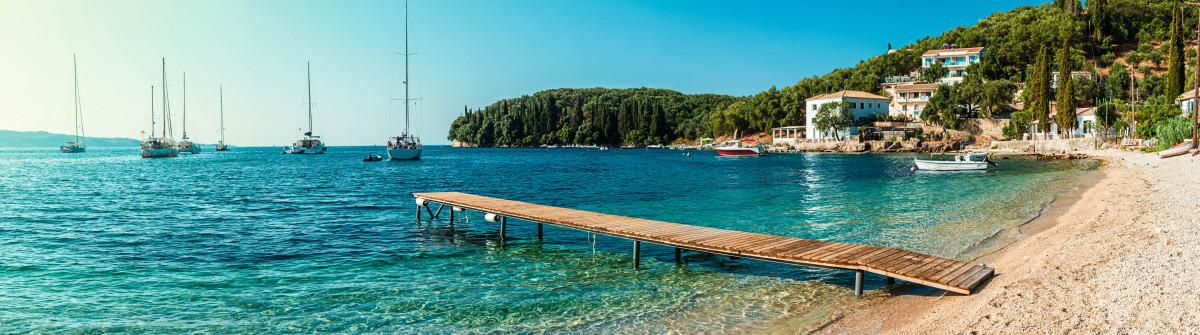 Beach in Kalami, Corfu