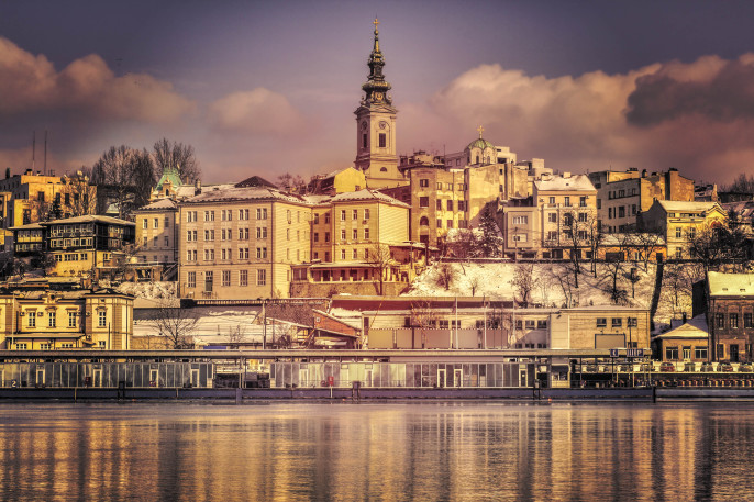 Belgrade, Serbia old town from the river Sava shutterstock_225178093-2