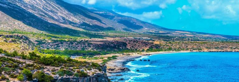 Mediterranean Sea And Rocky Coast Of Crete, Greece shutterstock_269175824-2