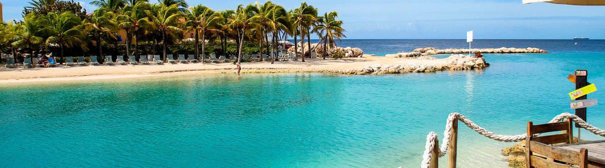 Mambo Beach on the island curacao
