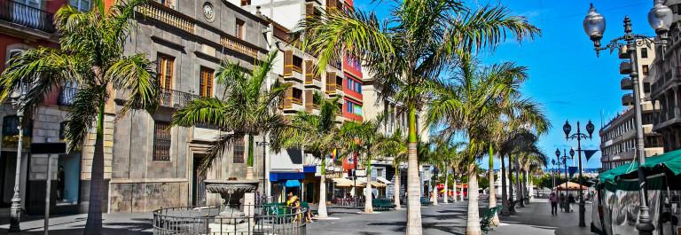 Mein street of old town Santa Cruz de Tenerife, Canary Islands, Spain shutterstock_134815736-2