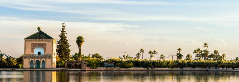 Menara Gardens in Marrakech, Morocco