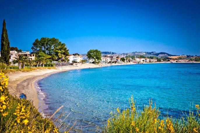 Paralia Fourkas beach, Halkidiki,  Greece.