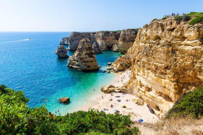 Algarve beach on a sunny day
