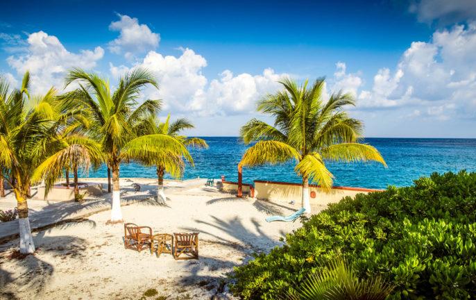 Coast of Cozumel island, Mexico