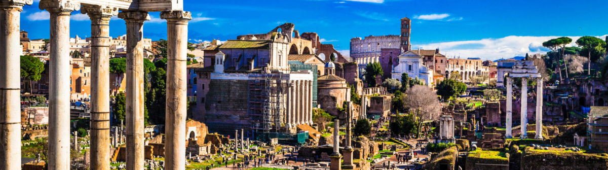 Great Rome – panoramic view of imperial forum