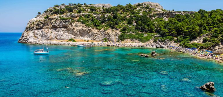 Anthony Quinn Bay. Rhodes, Greece